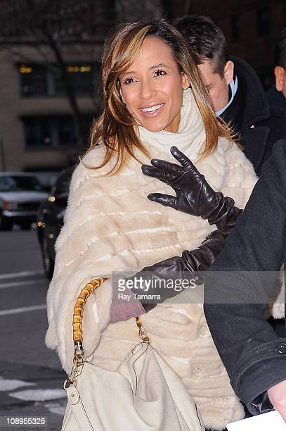 Actress Dania Rameriz enters the Fashion Week tents at Lincoln Center's Damrosch Park on February 9 2011 in New York City