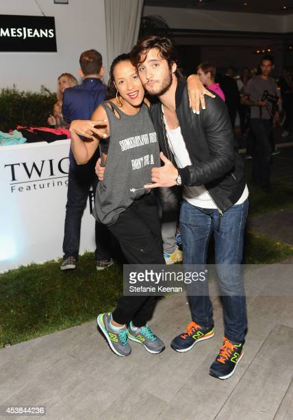 Actress Dania Ramirez and actor Diego Boneta attend a dance party with New Balance and James Jeans powered by ISKO at the home of Pascal Mouawad on...
