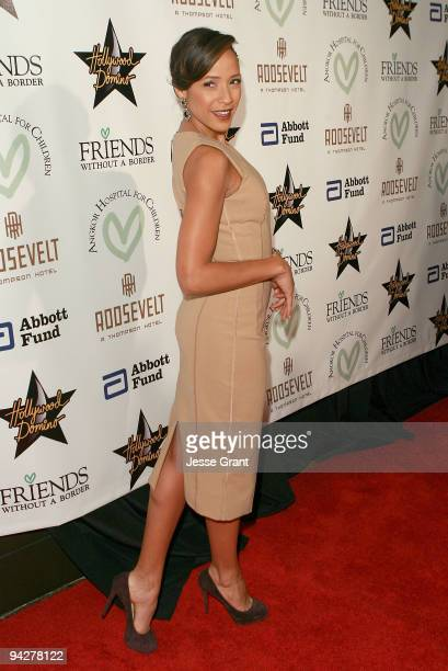 Actress Dania Ramirez arrives at the Friends Without Borders First Annual Los Angeles Gala at The Roosevelt Hotel on December 10 2009 in Hollywood...
