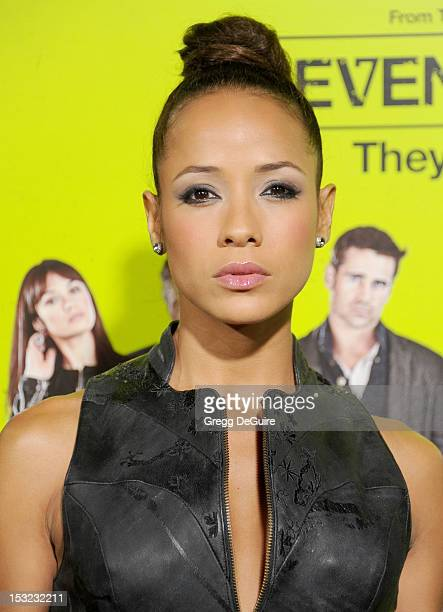 Actress Dania Ramirez arrives at the Los Angeles premiere of 'Seven Psychopaths' at Mann Bruin Theatre on October 1 2012 in Westwood California