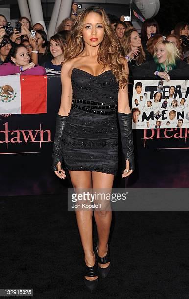 Actress Dania Ramirez arrives at the Los Angeles Premiere The Twilight Saga Breaking Dawn Part 1 at Nokia Theatre LA Live on November 14 2011 in Los...