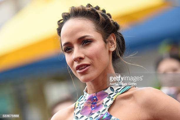 Actress Dania Ramirez arrives at the premiere of Sony Pictures' 'The Angry Birds Movie' at Regency Village Theatre on May 7 2016 in Westwood...