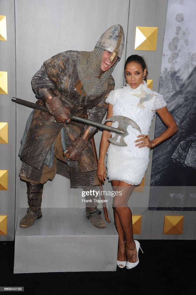 Actress Dania Ramirez arrives at the premiere of Warner Bros. Pictures' 'King Arthur: Legend Of The Sword' at TCL Chinese Theatre on May 8, 2017 in Hollywood, California.