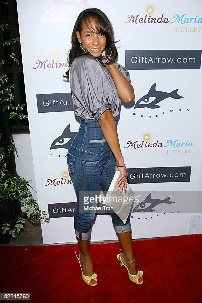 Actress Dania Ramirez arrives at The Whaleman Foundation Benefit held at Beso Restaurant on August 10 2008 in Hollywood California