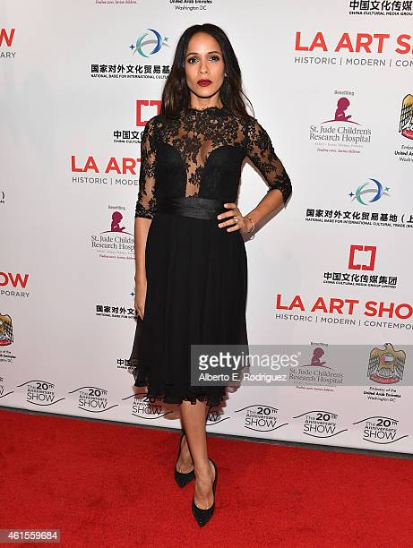 Actress Dania Ramirez arrives to the LA Art Show 2015 Opening Night Premiere Party at the Los Angeles Convention Center on January 14 2015 in Los...