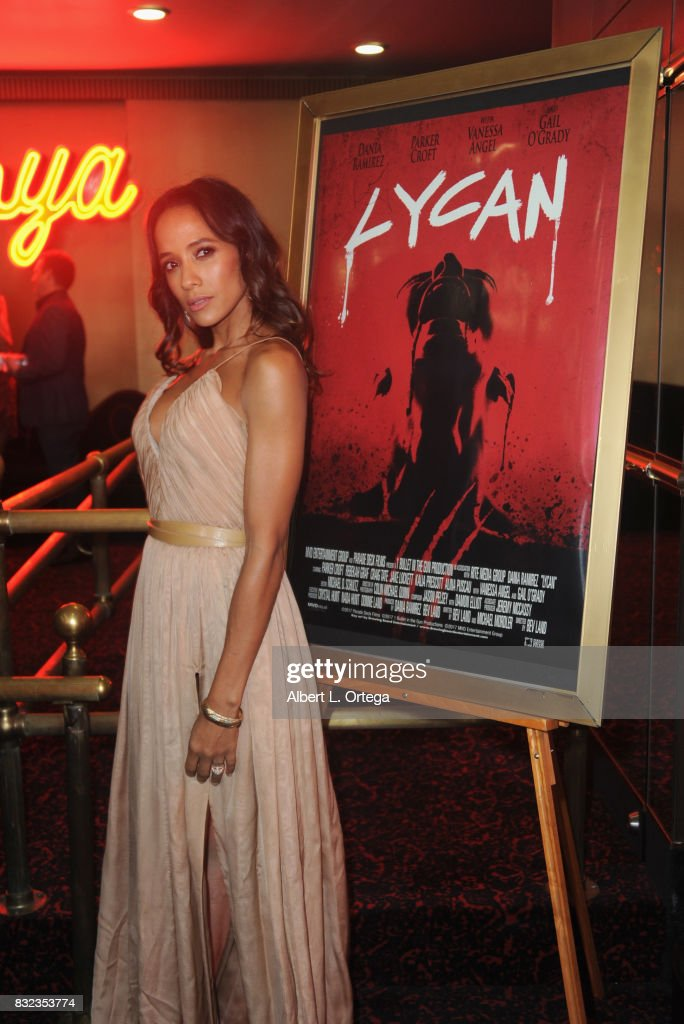 "Actress Dania Ramirez at the premiere of Parade Deck's ""Lycan"" held at Laemmle's Ahrya Fine Arts Theatre on August 15, 2017 in Beverly Hills, California."