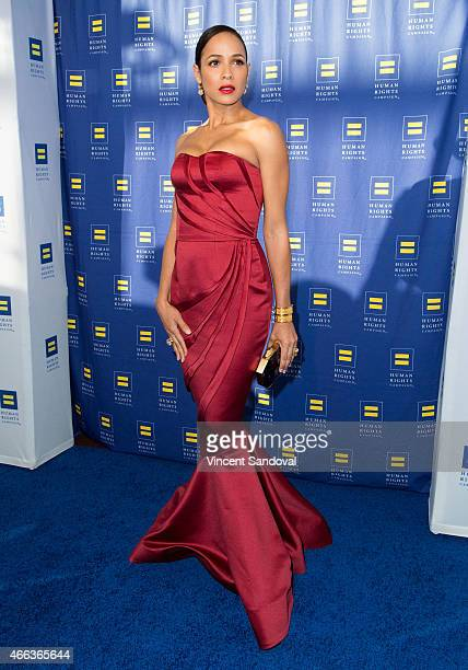 Actress Dania Ramirez attends the 2015 Human Rights Campaign Los Angeles Gala dinner at JW Marriott Los Angeles at LA LIVE on March 14 2015 in Los...