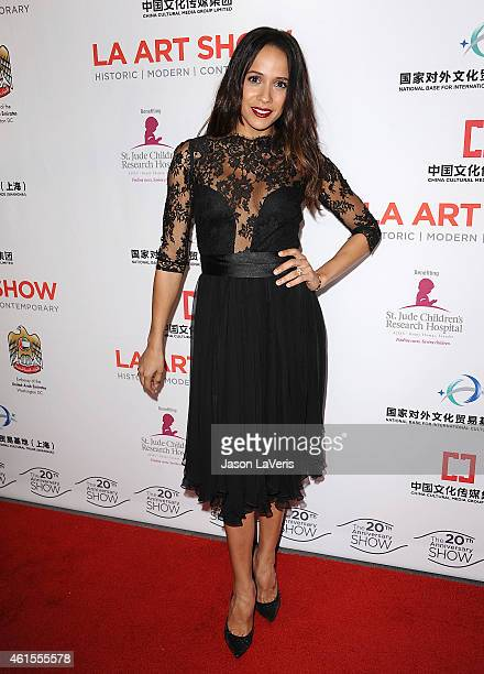 Actress Dania Ramirez attends the LA Art Show 2015 opening night premiere party at Los Angeles Convention Center on January 14 2015 in Los Angeles...
