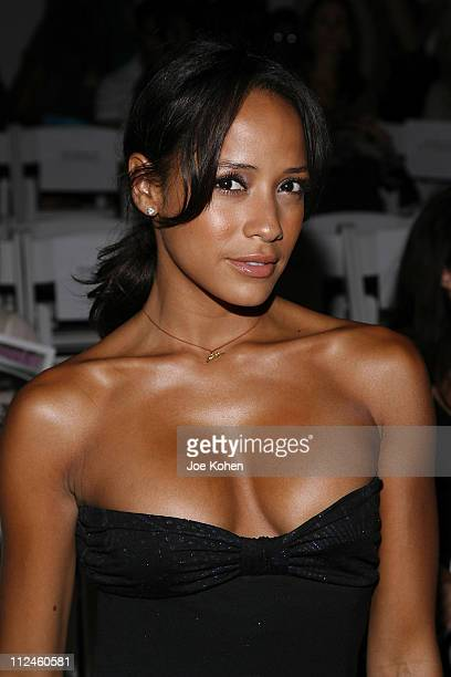 Actress Dania Ramirez attends the Custo Barcelona Spring 2009 fashion show at The Promenade in Bryant Park on September 11 2008 in New York City