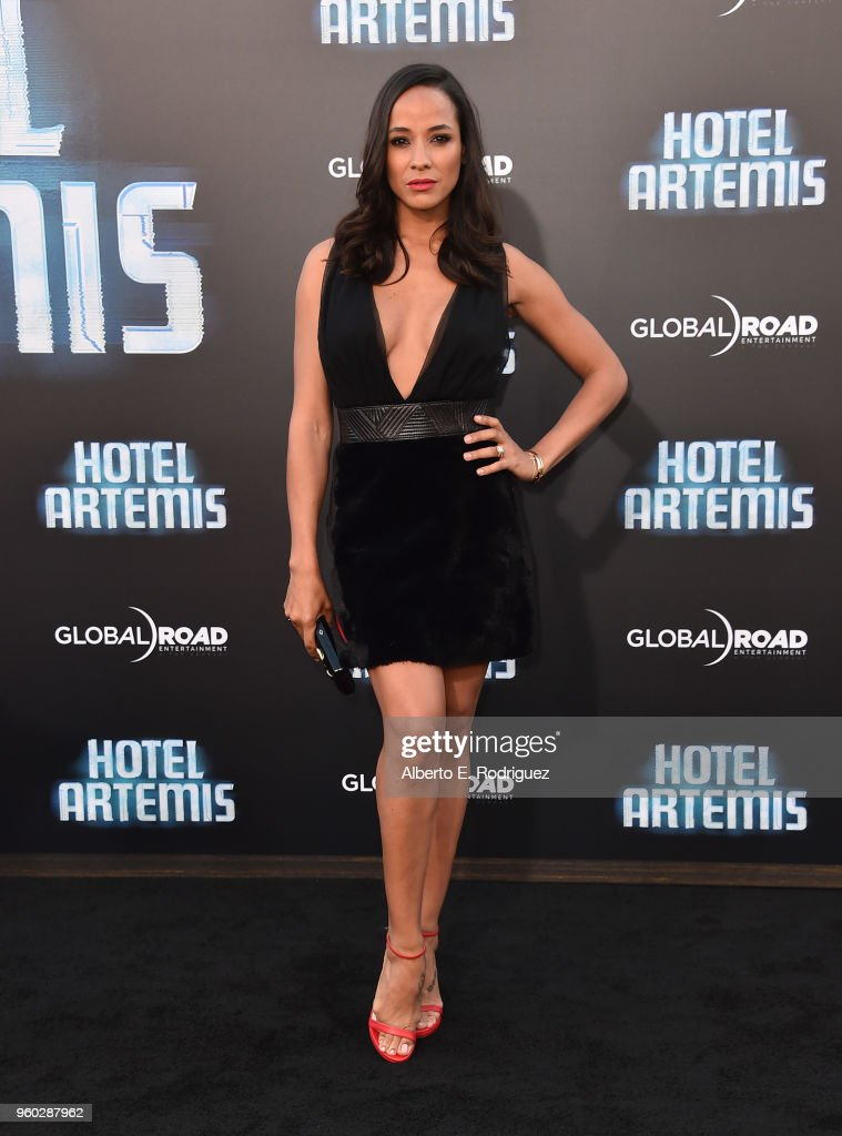 Actress Dania Ramirez attends the premiere of Global Road Entertainment's 'Hotel Artemis' at Regency Village Theatre on May 19, 2018 in Westwood, California.