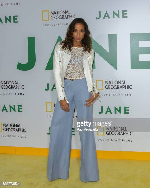 Actress Dania Ramirez attends the premiere of National Geographic documentary films' 'Jane' at the Hollywood Bowl on October 9 2017 in Hollywood...