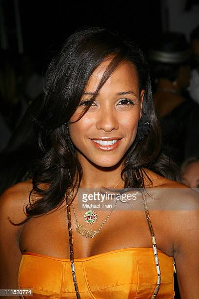 Actress Dania Ramirez front row at Julia Clancey Fall 2008 collection during Mercedes Benz LA Fashion Week held at Smashbox Studios on March 9 2008...