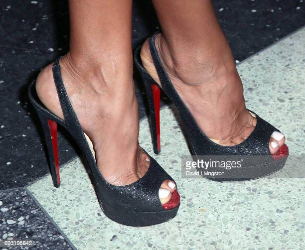 Actress Dania Ramirez shoe detail attends the 18th Annual Golden Trailer Awards at the Saban Theatre on June 6 2017 in Beverly Hills California