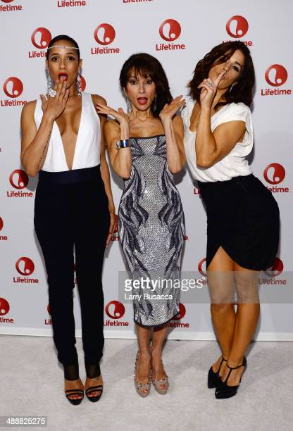 Actress Dania Ramirez, Susan Lucci and Ana Ortiz attend the 2014 A+E Networks Upfront on May 8, 2014 in New York City.