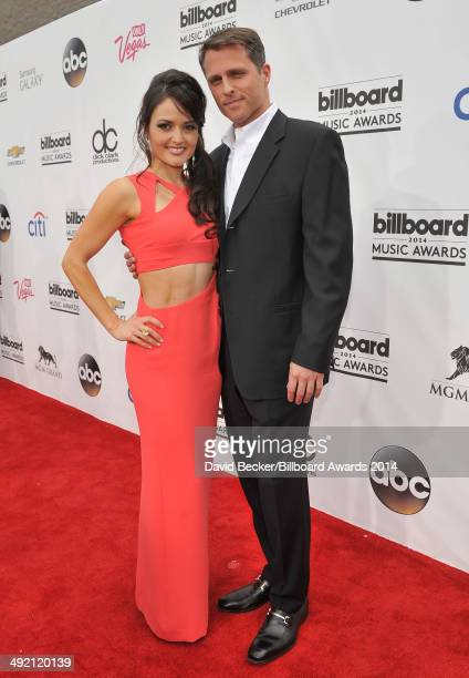 Actress Danica McKellar and guest attend the 2014 Billboard Music Awards at the MGM Grand Garden Arena on May 18 2014 in Las Vegas Nevada