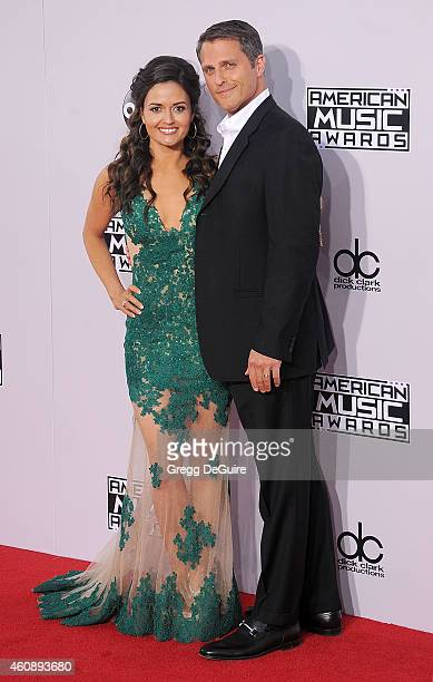 Actress Danica McKellar and Scott Sveslosky arrive at the 2014 American Music Awards at Nokia Theatre LA Live on November 23 2014 in Los Angeles...