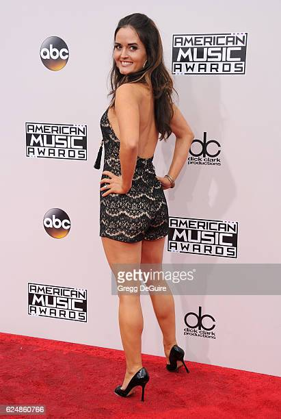 Actress Danica McKellar arrives at the 2016 American Music Awards at Microsoft Theater on November 20 2016 in Los Angeles California