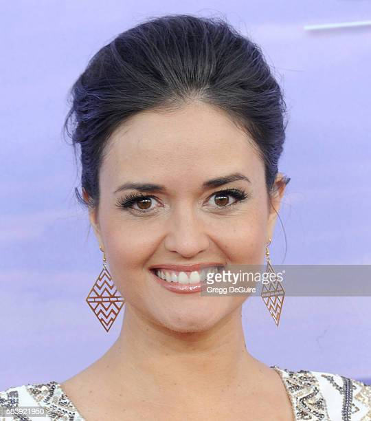 Actress Danica McKellar arrives at the Hallmark Channel and Hallmark Movies and Mysteries Summer 2016 TCA Press Tour Event on July 27 2016 in Beverly...