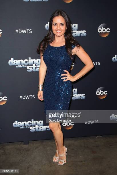 Actress Danica McKellar attends Dancing with the Stars season 25 at CBS Televison City on October 23 2017 in Los Angeles California