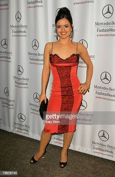 Actress Danica McKellar attends Mercedes Benz Fashion Week held at Smashbox Studios on March 18 2007 in Culver City California