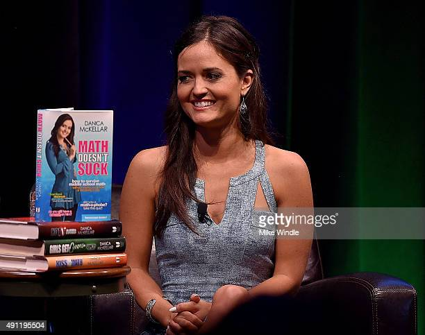 Actress Danica McKellar speaks onstage during The Paley Center For Media Google present Cracking the Code Diversity Hollywood STEM at Google...