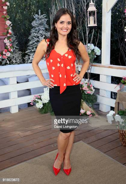 Actress Danica McKellar visits Hallmark's Home Family at Universal Studios Hollywood on February 7 2018 in Universal City California