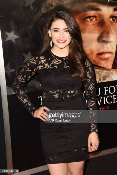 Actress Daniela Bobadilla arrives for the premiere of 'Thank You For Your Service' October 23 2017 at the Regal LA Live in Los Angeles California /...