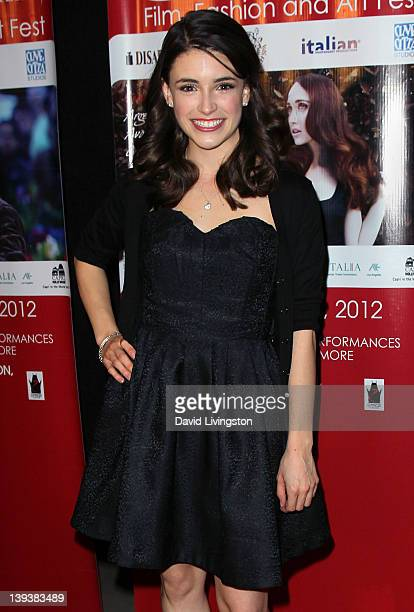 Actress Daniela Bobadilla attends the 7th Annual Los Angeles Italia Film Fashion and Art Festival opening night gala at Mann Chinese 6 on February 19...