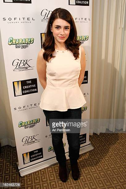 Actress Daniela Bobadilla attends The Creative Coalition's Charades for Good Day 2 Oscar Week 2013 at Sofitel Hotel on February 23 2013 in Los...