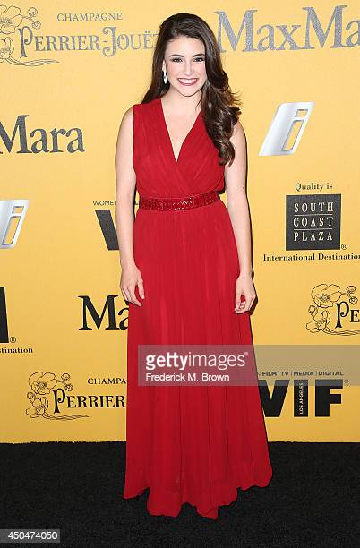 Actress Daniela Bobadilla attends the Women In Film Los Angeles Presents the 2014 Crystal Lucy Awards at the Hyatt Regency Century Plaza Hotel on...