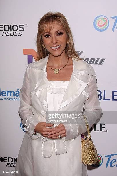 Actress Daniela Castro attends the Mujeres Asesinas TV show launch on June 13 2008 at the Lunario del Auditorio Nacional in Mexico City