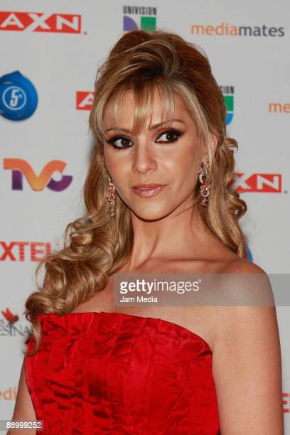 Actress Daniela Castro poses for a photo during the premiere of the television series 'Mujeres Asesinas' second season at the facilities of San Angel...