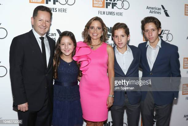 Actress Daniela Demesa and family attend the 56th New York Film Festival premiere of ROMA at Alice Tully Hall Lincoln Center on October 5 2018 in New...