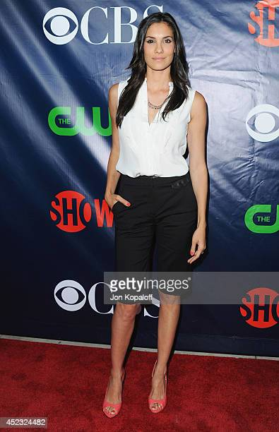 Actress Daniela Ruah arrives at the CBS The CW Showtime CBS Television Distribution 2014 Television Critics Association Summer Press Tour at Pacific...