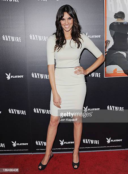 Actress Daniela Ruah arrives at the Los Angeles Premiere Haywire at Directors Guild Of America on January 5 2012 in Los Angeles California