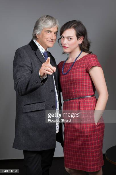 Actress Daniela Vega and actor Francisco Reyes are photographed for Self Assignment on February 14 2017 in Berlin Germany
