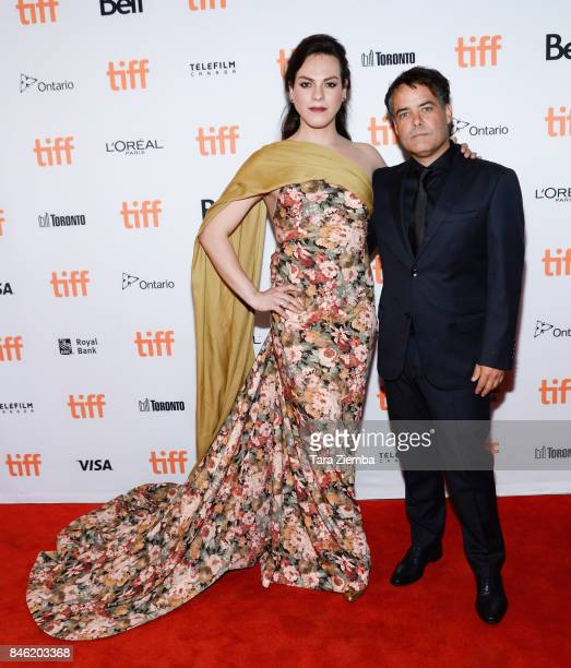 Actress Daniela Vega and director Sebastian Lelio attend the 'A Fantastic Woman' premiere during the 2017 Toronto International Film Festival at The...