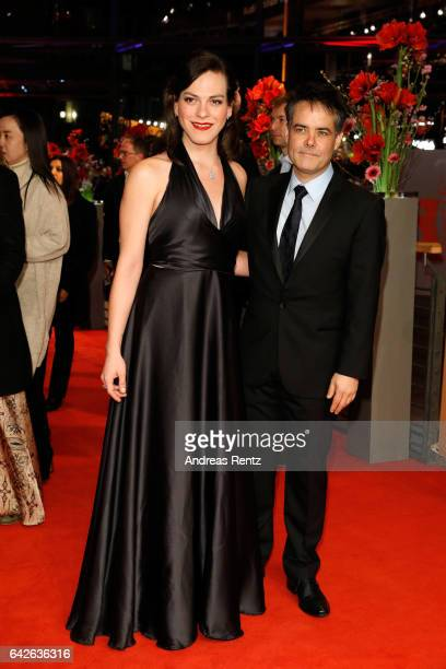 Actress Daniela Vega and ilm director and screenwriter Sebastian Lelio arrive for the closing ceremony of the 67th Berlinale International Film...