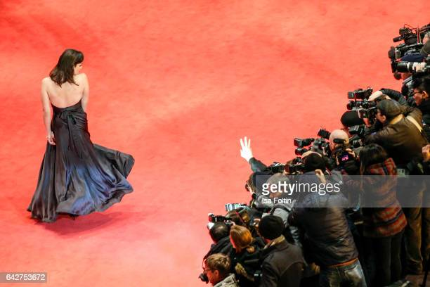 Actress Daniela Vega attends the closing ceremony of the 67th Berlinale International Film Festival at Berlinale Palace on February 18 2017 in Berlin...