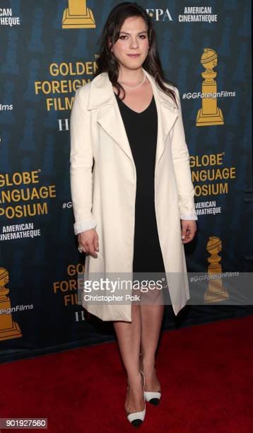 Actress Daniela Vega attends the HFPA and American Cinematheque Present The Golden Globe ForeignLanguage Nominees Series 2018 Symposium at the...