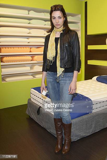 Actress Daniela Virgilio attends a photocall during the Milan Design Week 2011 on April 16 2011 in Rho Italy