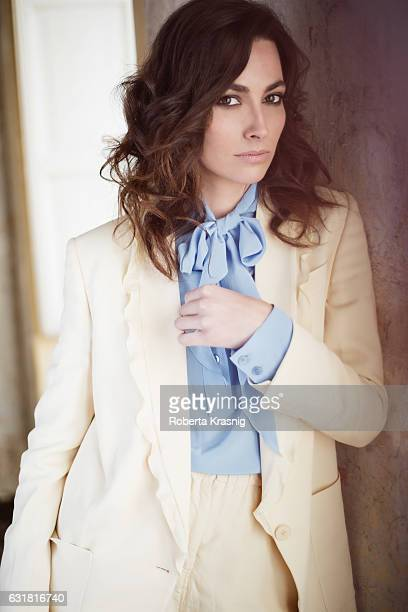 Actress Daniela Virgilio is photographed for Self Assignment on February 13 2015 in Rome Italy