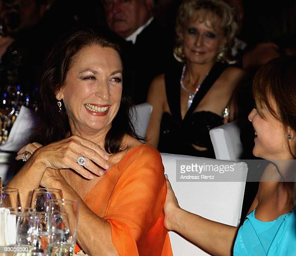 Actress Daniela Ziegler and Estefania Kuester attend the Unesco Charity Gala 2009 at the Maritim Hotel on November 14, 2009 in Dusseldorf, Germany.