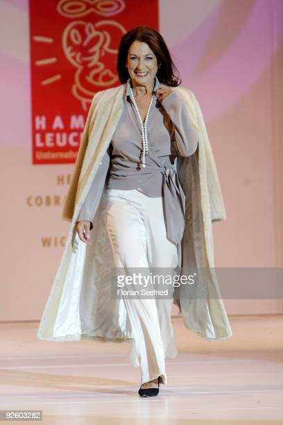 Actress Daniela Ziegler walks down the runway at the 'Event Prominent 2009' fashion show at the Hotel Grand Elysee on November 1 2009 in Hamburg...