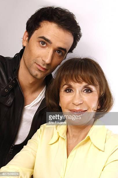 Actress Daniele Evenou and her son JeanBaptiste Martin attend the France 3 TV show Les Grands du Rire in Paris