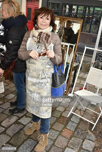 """Actress Daniele Evenou attends """"Zezette By Montmartre"""" : Aprons Fashion Show Place Charles Dullin on April 17, 2016 in Paris; France. )"""