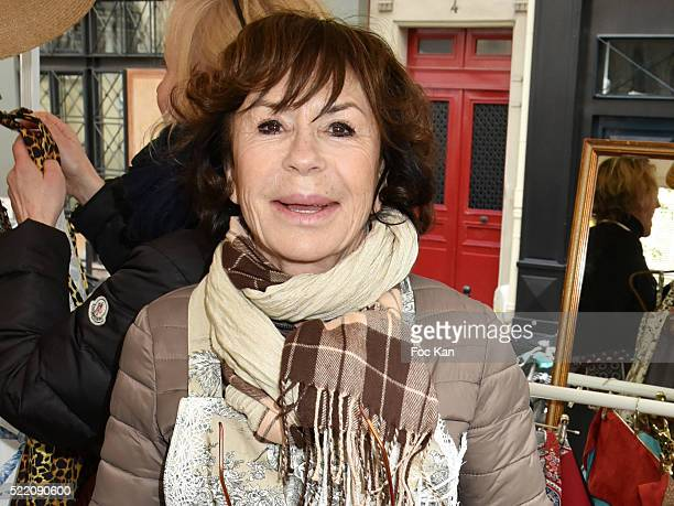 Actress Daniele Evenou attends Zezette By Montmartre Aprons Fashion Show Place Charles Dullin on April 17 2016 in Paris France