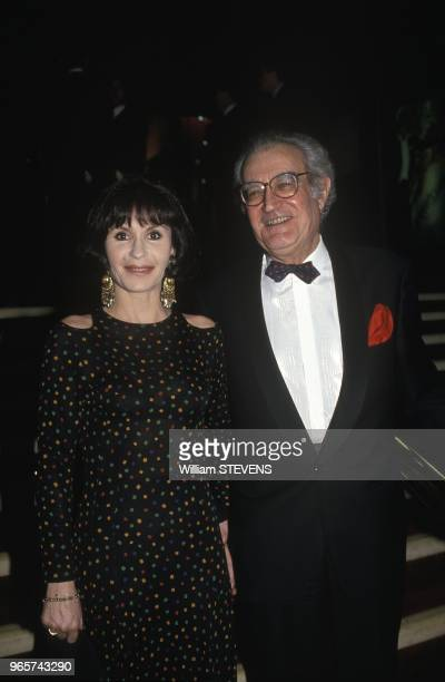 Actress Daniele Evenou With Husband Georges Fillioud Arrive At 7 D Or Ceremony Paris January 20 1993