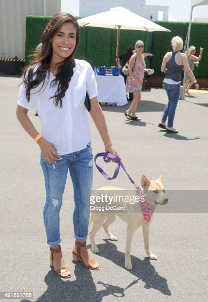 Actress Daniella Alonso arrives at the Ovarian Cancer Research Fund's Inaugural Super Saturday LA event at Barker Hangar on May 17 2014 in Santa...