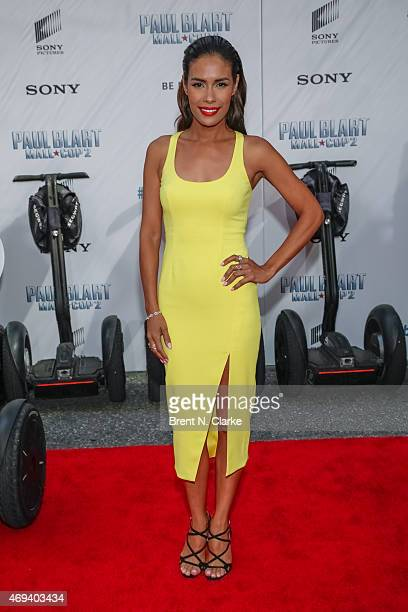 Actress Daniella Alonso arrives for the Paul Blart Mall Cop 2 New York Premiere at AMC Loews Lincoln Square on April 11 2015 in New York City